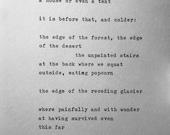 MARGARET ATWOOD 39 HABITATION 39 hand typed poem vintage typewriter quote lyric poetry love letter