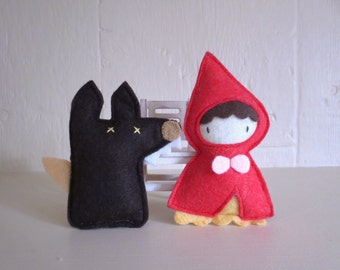 Cat toys Catnip Red Riding Hood and Wolf Catnip toy for cat gift for cat lover organic catnip toy cute cat toy handmade unique cat toy