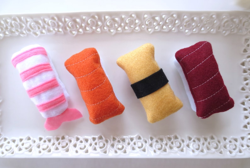 Cat toys Catnip Sushi Catnip toy for cat gift for cat lover image 0