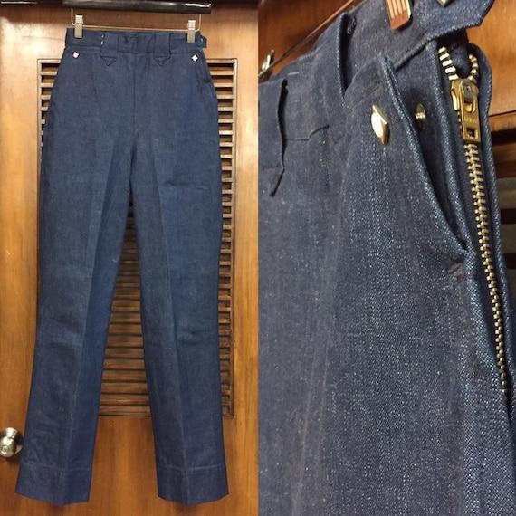 Vintage 1950's Levi's Side-Zip Jeans w26, Vintage