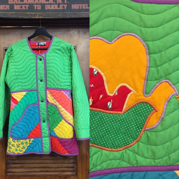 """Vintage 1980's """"Jeanne Marc"""" Quilted Dove Multi-Co"""