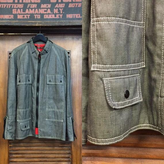 Vintage 1960's Twill Work Jacket, Vintage Workwear
