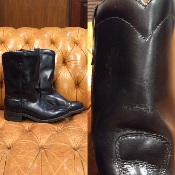 Vintage 1960's Work Boots, Engineer Boots, Rockabi