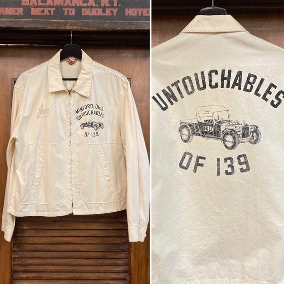 """Vintage 1950's """"Untouchables"""" Car Club Jacket, 50'"""