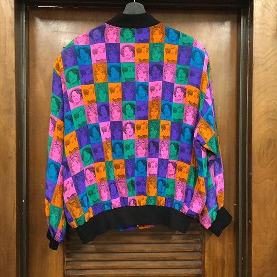 Vintage 1980's Pop Art Faces Bomber Jacket, 1980'… - image 6
