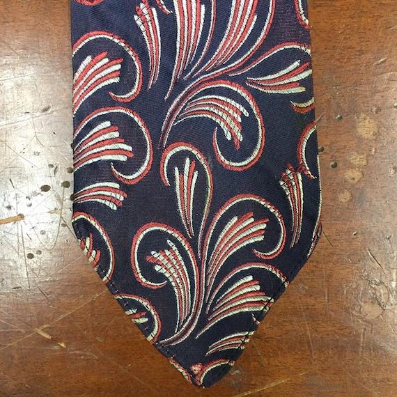 Vintage 1930's, Macro Paisley Design Swing Tie, U… - image 6