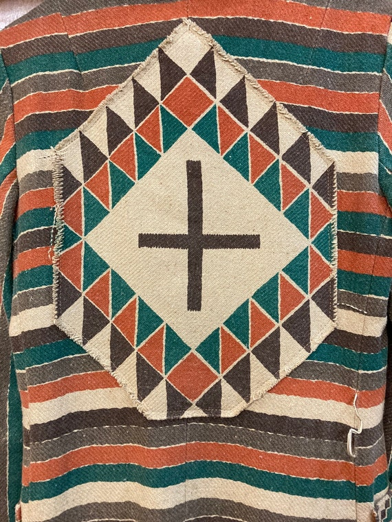 Vintage 1970's Southwestern Serape Duster Coat Ja… - image 7