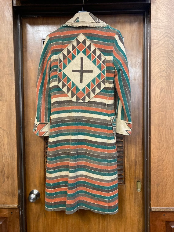 Vintage 1970's Southwestern Serape Duster Coat Ja… - image 10