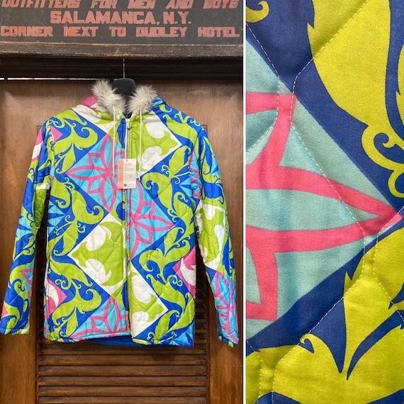 Vintage 1960's Pop Art Quilted Ski Jacket -Deadsto
