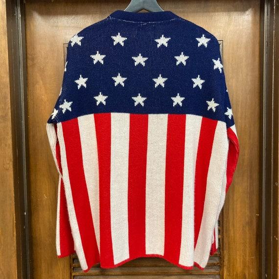 Vintage 1960's American Flag Pop Art Sweater, 60'… - image 4