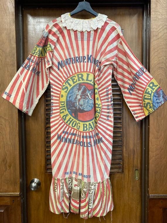 Vintage 1960s Feed Sack Pop Art Dress, Vintage 19… - image 10