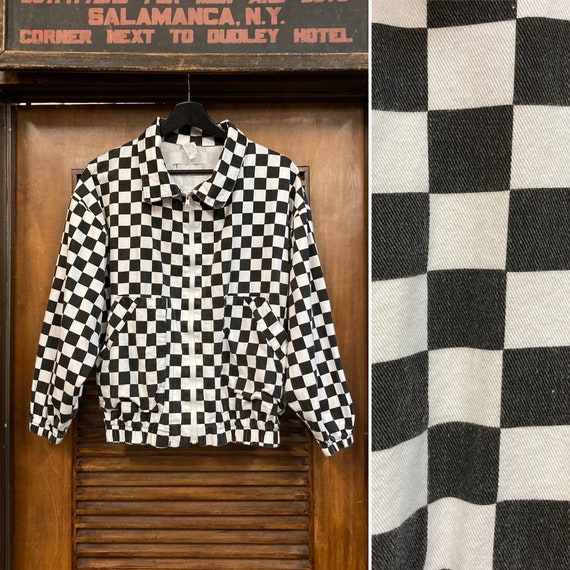 Vintage 1980's New Wave Style Checkerboard Jacket,