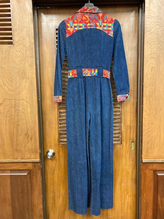 Vintage 1970's Denim Woven Jumpsuit, Vintage Jump… - image 9