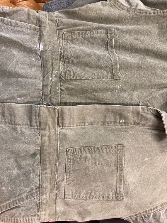 Vintage 1940's Green Military Workwear Coveralls,… - image 6