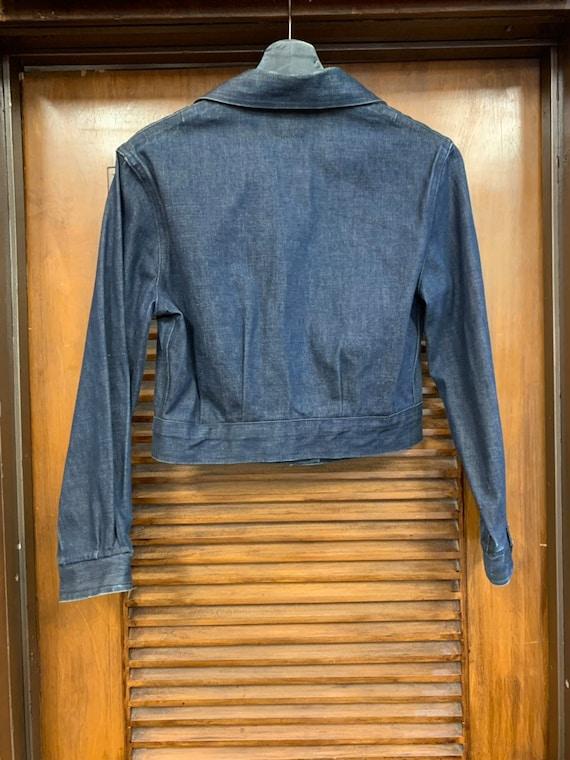Vintage 1950's Levi's Studded Denim Shirt Jacket,… - image 6
