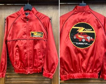Vintage 1980's ZZ Top Rock Band Eliminator Album Tour Jacket, 80's Rock Band, Vintage Album Jacket, Vintage Top, Vintage Clothing