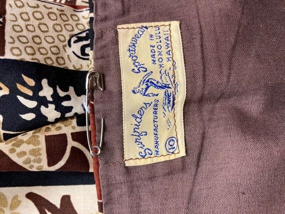 Vintage 1950's Surfriders Tiki Asian Cotton Asymm… - image 4
