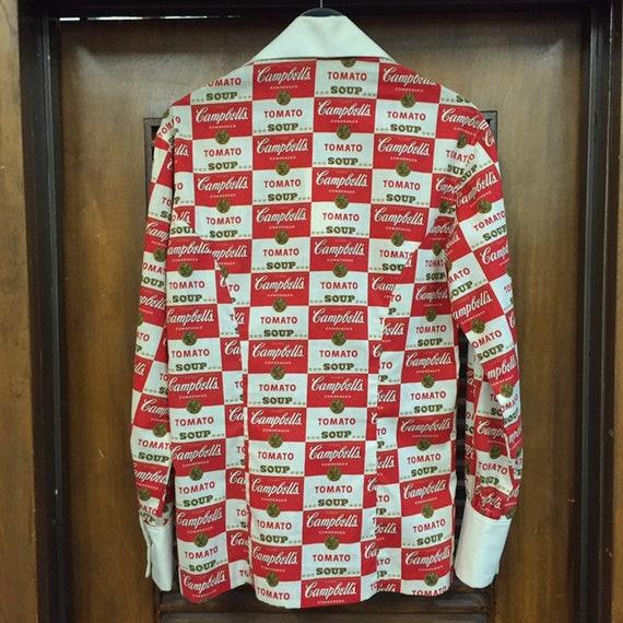 Vintage 1960's Campbell's Soup Pop Art Shirt Warh… - image 4