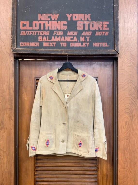 Vintage 1930's Beaded Frontier Fringe Jacket, Vint