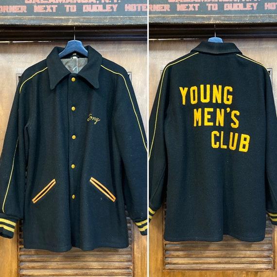 1950's Young Men's Club Wool Rockabilly Jacket, 50