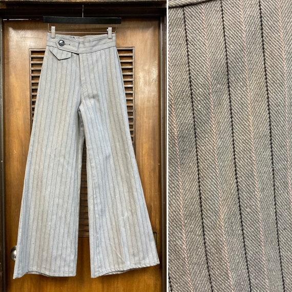 Vintage 1970's Pinstripe Wide Flare Deadstock Pant
