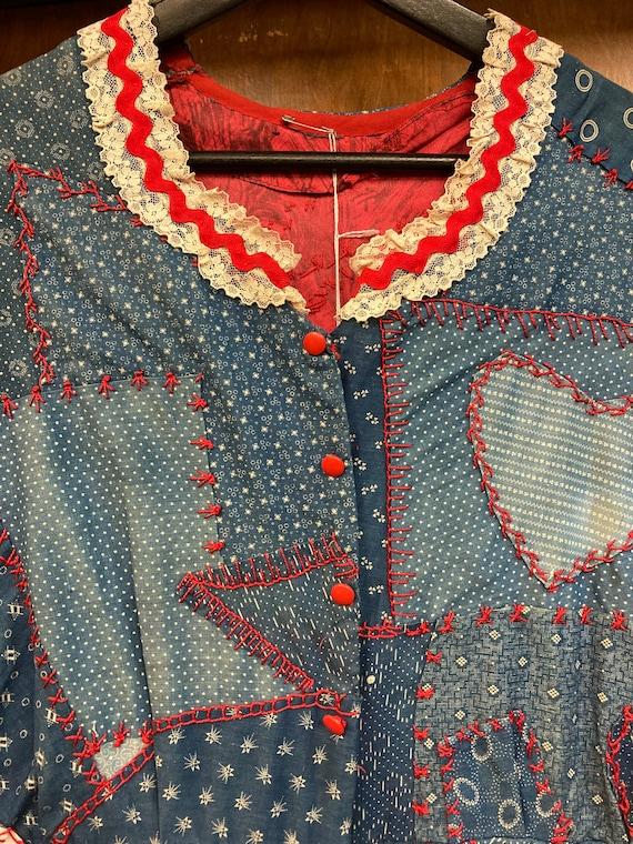 Vintage 1960's Calico Patchwork Dress, Vintage Ca… - image 3