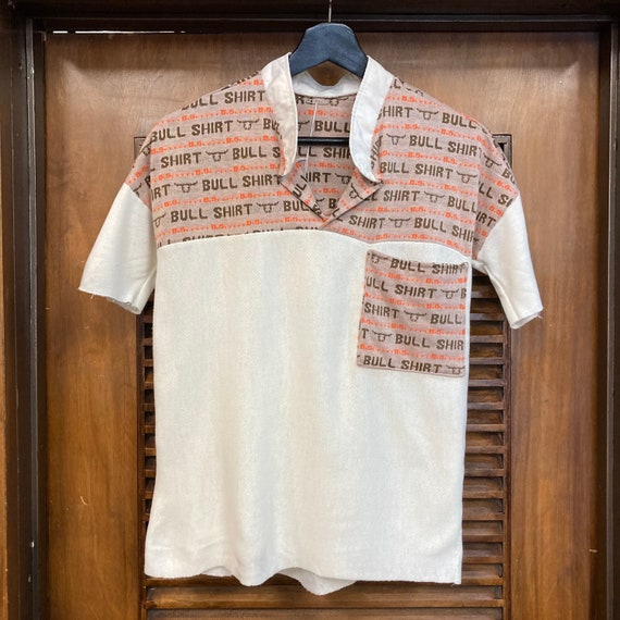 Vintage 1960's Bull Shirt Pop Art Top, 60's Top, … - image 3
