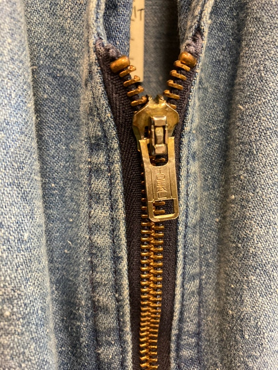 "Vintage 1970's ""Male"" Label Denim Jumpsuit with F… - image 6"