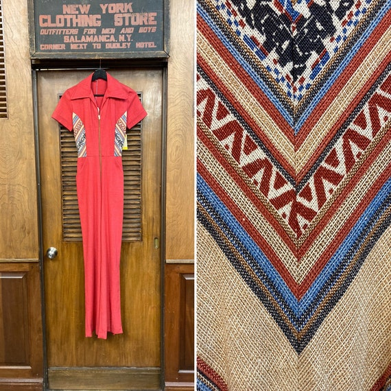 Vintage 1960's NOS Deadstock Salmon Jumpsuit with