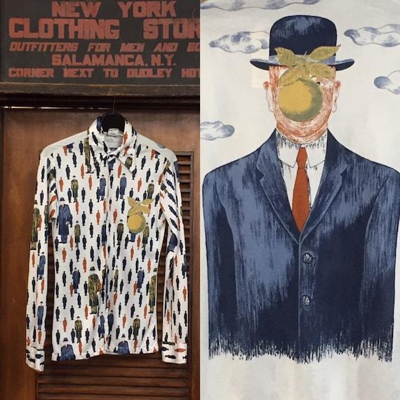Vintage 1960's Artist Pop Art Shirt, 1970's Vintag
