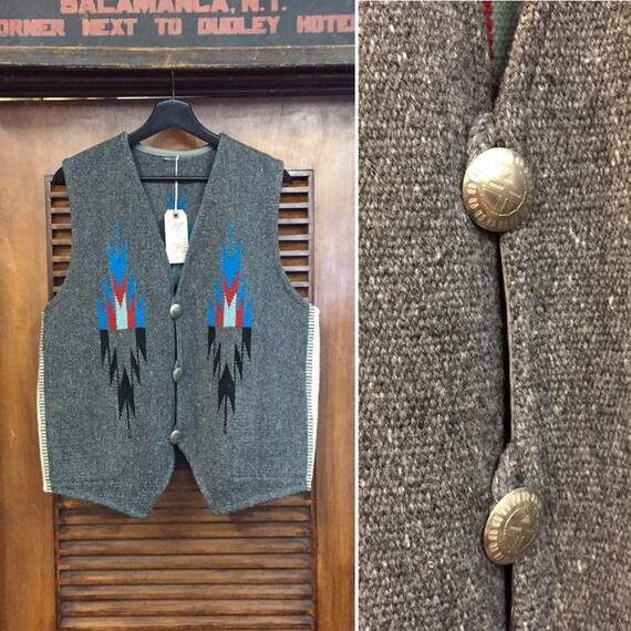 Vintage 1950's Chimayo Southwest Vest, 50's Vest,