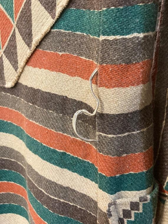 Vintage 1970's Southwestern Serape Duster Coat Ja… - image 6