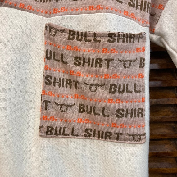 Vintage 1960's Bull Shirt Pop Art Top, 60's Top, … - image 7