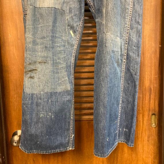Vintage 1940's Button Front Carpenter Jeans Farm … - image 7