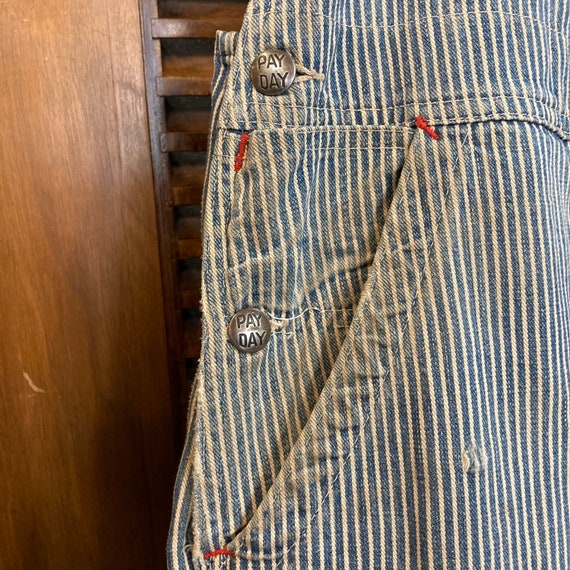 """Vintage 1940's """"Pay Day"""" Hickory Stripe Workwear … - image 7"""