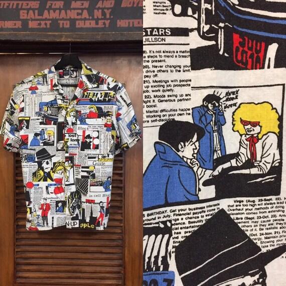 Vintage 1980's Detective Comic Cartoon Print New W