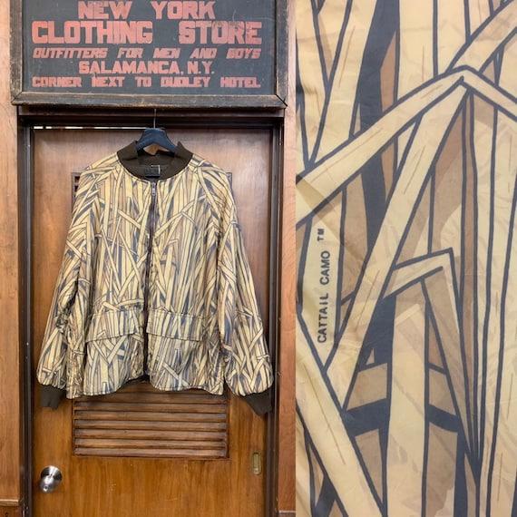 Vintage 1980's Cattail Camo Brand Bamboo Print Bom