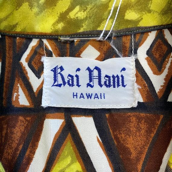 Vintage 1960's Peace Sign Tiki Cotton Pop Art Haw… - image 9