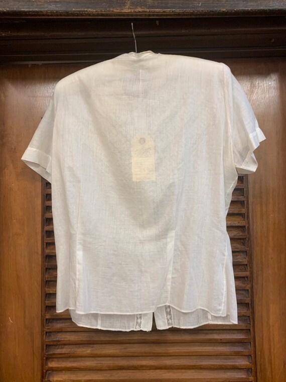 Vintage 1920's Lace & Cotton Blouse, Vintage Clot… - image 6