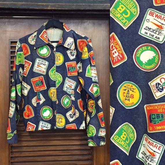 Vintage 1970's CB Trucker Pop Art Jacket, 1960's J