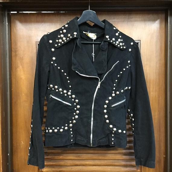 Vintage 1960's Black Studded Roncelli Denim Glam … - image 3