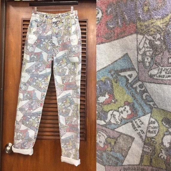 Vintage 1980's Jordache Comic Book Denim Jeans, Vi