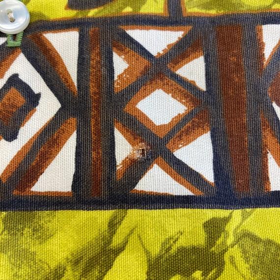 Vintage 1960's Peace Sign Tiki Cotton Pop Art Haw… - image 10
