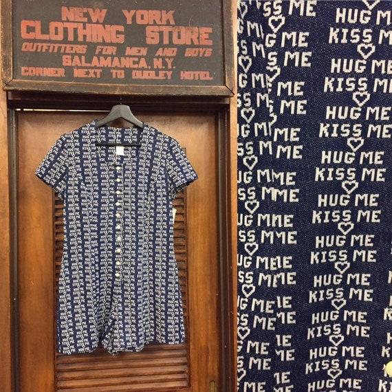 Vintage 1960's Hug Me- Kiss Me Romper, XOXO, Vinta