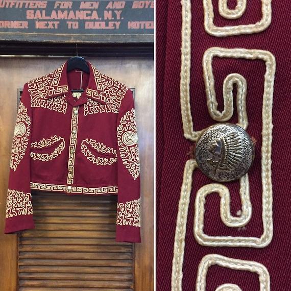 Vintage 1940's Gabardine Mariachi Jacket with Indi