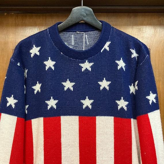Vintage 1960's American Flag Pop Art Sweater, 60'… - image 6