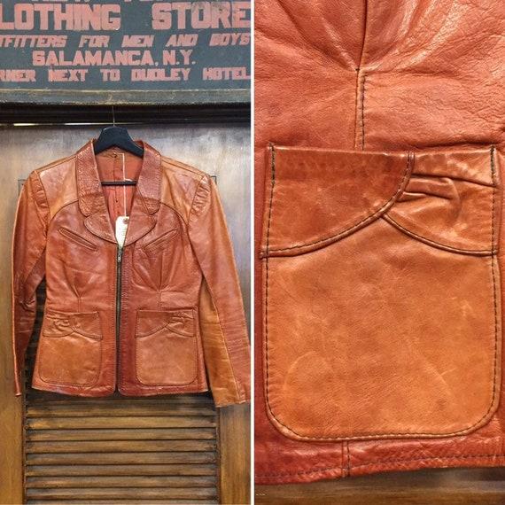 Vintage 1960's Gandalf Hippie Rocker Leather Jacke