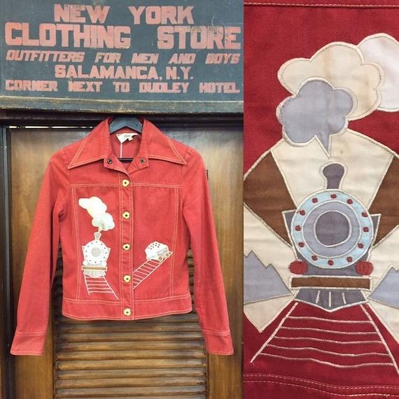 Vintage 1960's Roncelli Label Train Pattern Glam R