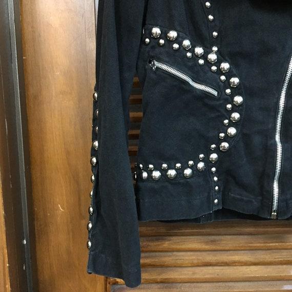 Vintage 1960's Black Studded Roncelli Denim Glam … - image 7