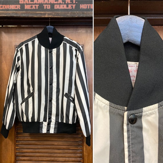 Vintage 1960's Referee Stripe Sports Jacket, 60's
